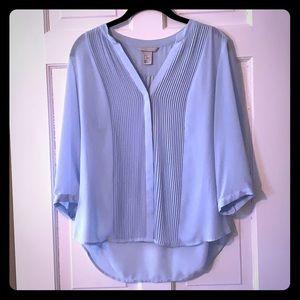 H&M Light Blue 3/4 Sleeve Blouse, Size 8 💙
